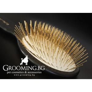 Chris Christensen - Oval Gold Pin Brush